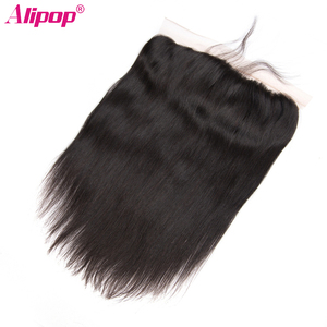 Image 4 - Straight Hair Bundles With Frontal Peruvian Human Hair Bundles with Closure Pre Plucked Remy Lace Frontal With Bundles ALIPOP
