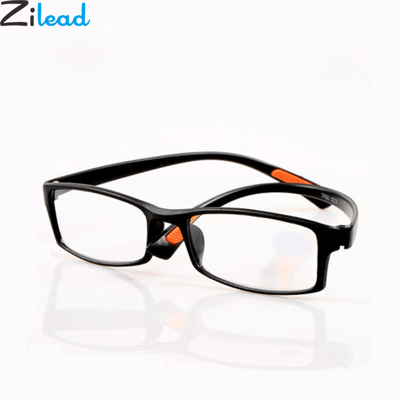 Zilead TR90 Full Frame Myopia Glasses Classcal Black Nearsighted Glasses Clear Lens Short-sight Glasses With Degree -1.0to-4.0