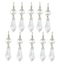 Висячей призмы кристаллы запчасти капли стеклянная люстра прозрачные подвеска освещение дома