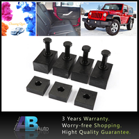 Chuang Qian 1Set Rear Seat Recline Spacer Kit With Bolts Washers Black Aluminum for Jeep Wrangler JK 2007 2018 4 door