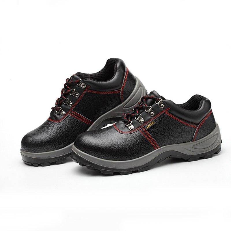 Heren Laarzen Lederen 2019 Echt Leer Mannen Werken Laarzen Veiligheid Schoenen voor Mannen Anti Slip Sneakers Schoenen Beschermende Schoenen - 3