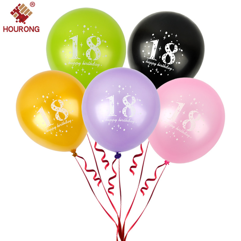 HOURONG 10 Pcs 18 Year Old Latex Balloon Multiple Colour Adulthood Happy  Birthday Balloon Festival Party Decoration Tool-in Ballons & Accessories  from Home ...