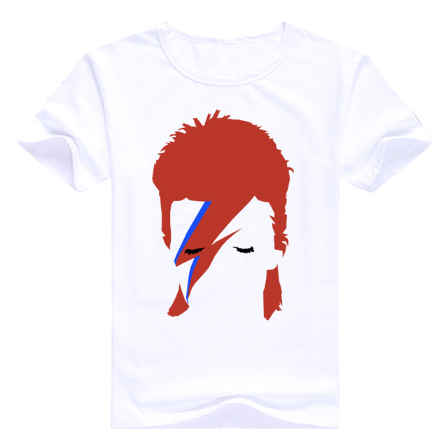 Fashion Shirts Character Designed 2017 Rock Bowie David Bowie Ziggy Stardust Printed T-Shirt
