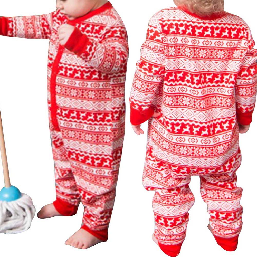 2018 New Christmas Pajamas Set Women Men Baby Kids Family Plaid Pyjamas Kids Photography ...