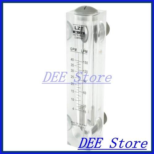 4-40GPM Glass Tube Design Liquid Water Panel Flowmeter Measure Tool  цены