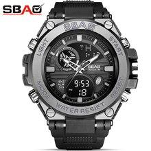 Reloj Digital de cuarzo para hombre de moda deportivo Super Cool relojes deportivos de marca de lujo SBAO relojes de pulsera mi