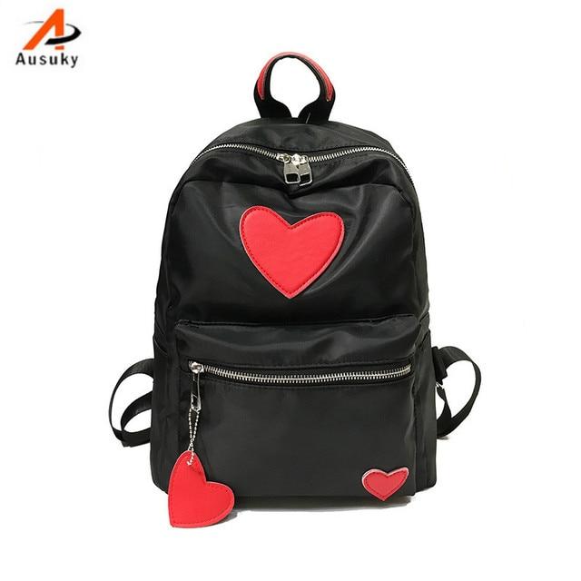 Fashion Nylon peach women backpack casual preppy leather Black Backpacks  Female Girls school Bags Ladies Backpack-30 cf64f0c41344c