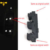 Free Shipping! New Starter Electric Power Window Switch With White Light For Renault Kadjar 2015 2016 2017 2018 No Panel