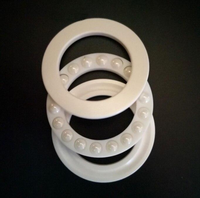 4 pcs/lot 51107 51108 ZrO2 butée à billes axiale en céramique pleine 35x52x12 40x60x13mm