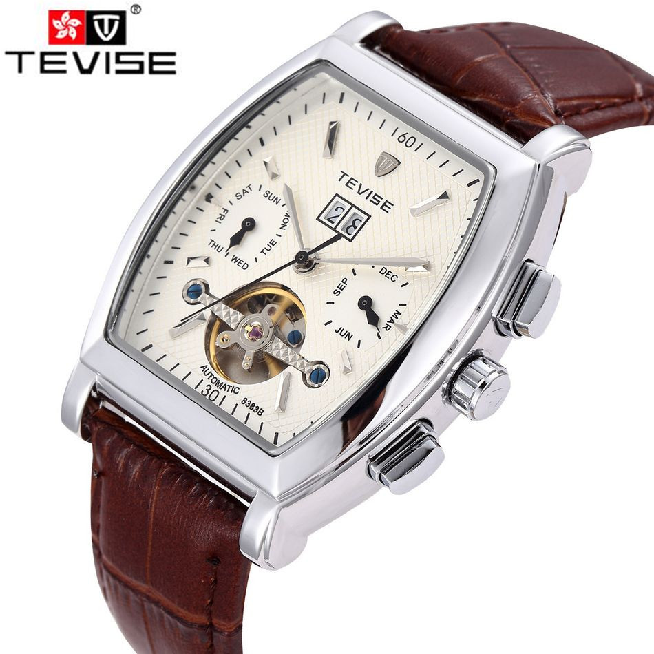 ФОТО 2017  Tevise Watch 2017 Men's Day/Week/Month Watches Auto Mechanical Wristwatch Gift Box Free Ship