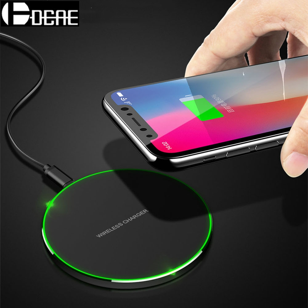 buy dcae 10w qi wireless charger for samsung galaxy s9 s8 plus note 8 9 xiaomi. Black Bedroom Furniture Sets. Home Design Ideas