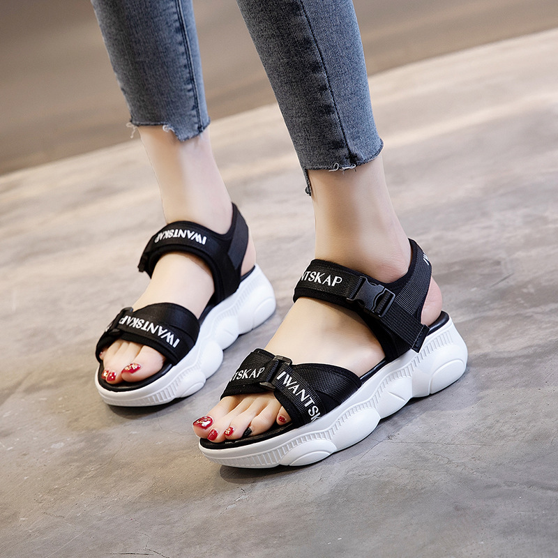 Casual Sandals Roman Thick-Bottom Wild Outdoor-Light Fairy-Wind