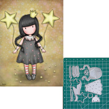 Holding the stars new 2019metal cutting dies doll girls for scrapbooking and making paper cards