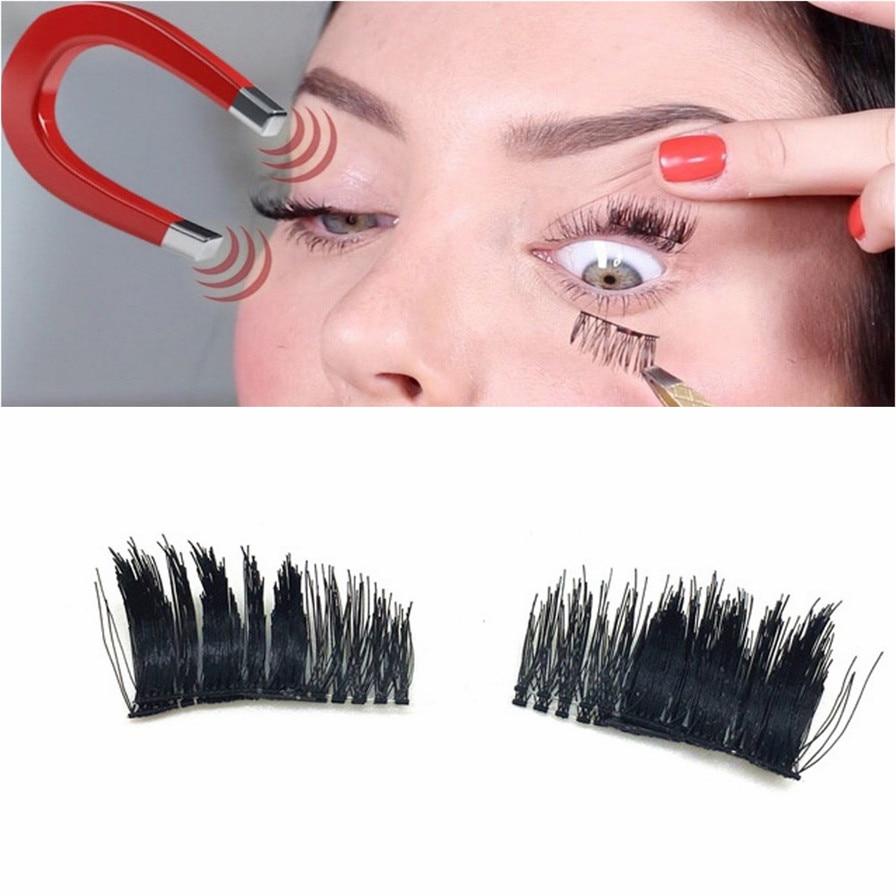 2018 Real Mink Natural Long Black 3D False Eyelashes 0.2mm Magnetic Pro Fake Eye Lashes Makeup Magnet Lashes Pestanas falsas
