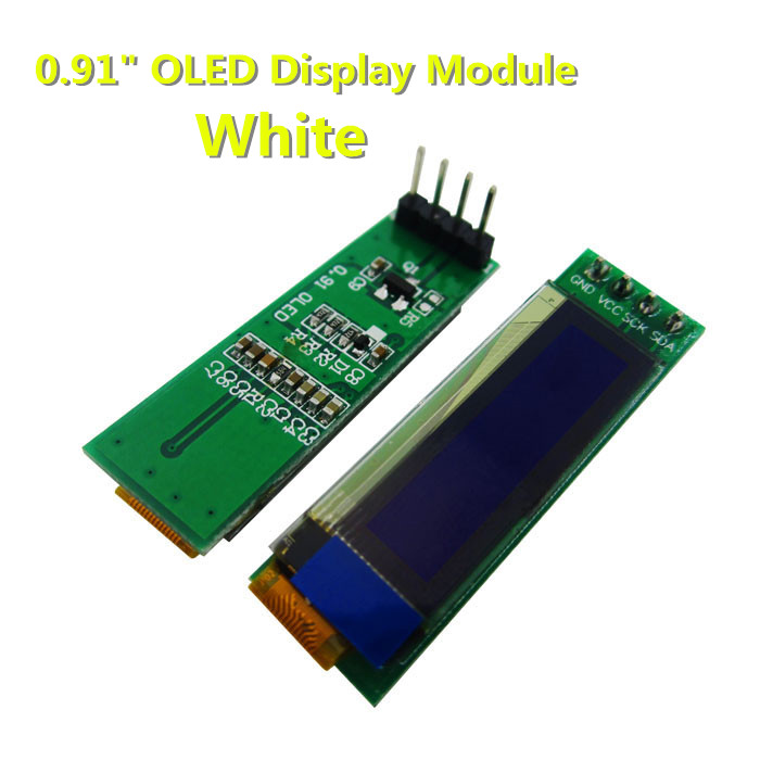 1pcs 0.91 inch OLED module 0.91 white OLED 128X32 OLED LCD LED Display Module 0.91 IIC new original in stock 1 3 inch 128x64 oled display module blue 7 pins spi interface diy oled screen diplay compatible for arduino