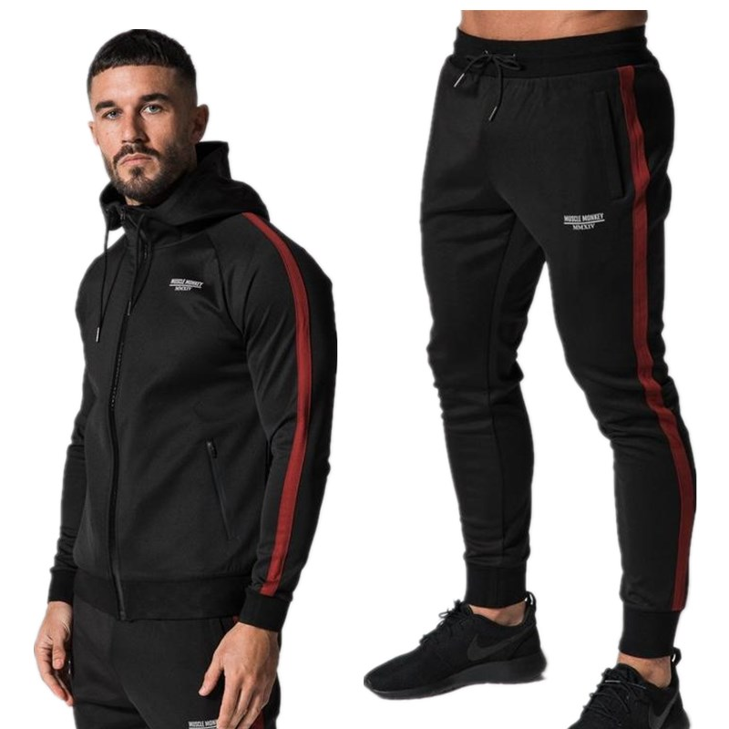 New men's fashion autumn spring sports suit sweatshirt + sportswear pants clothing unit men's 2 sets of sportswear Slim