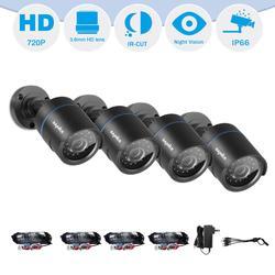 SANNCE HD 720P AHD Video Security Home CCTV Camera Kit 4PCS Camera Set Smart IR-CUT IP66 Outdoor Weatherproof 66FT Night Vision