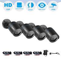 SANNCE HD 720P AHD Video Security Home CCTV Camera Kit 4PCS Camera Set Smart IR CUT IP66 Outdoor Weatherproof 66FT Night Vision