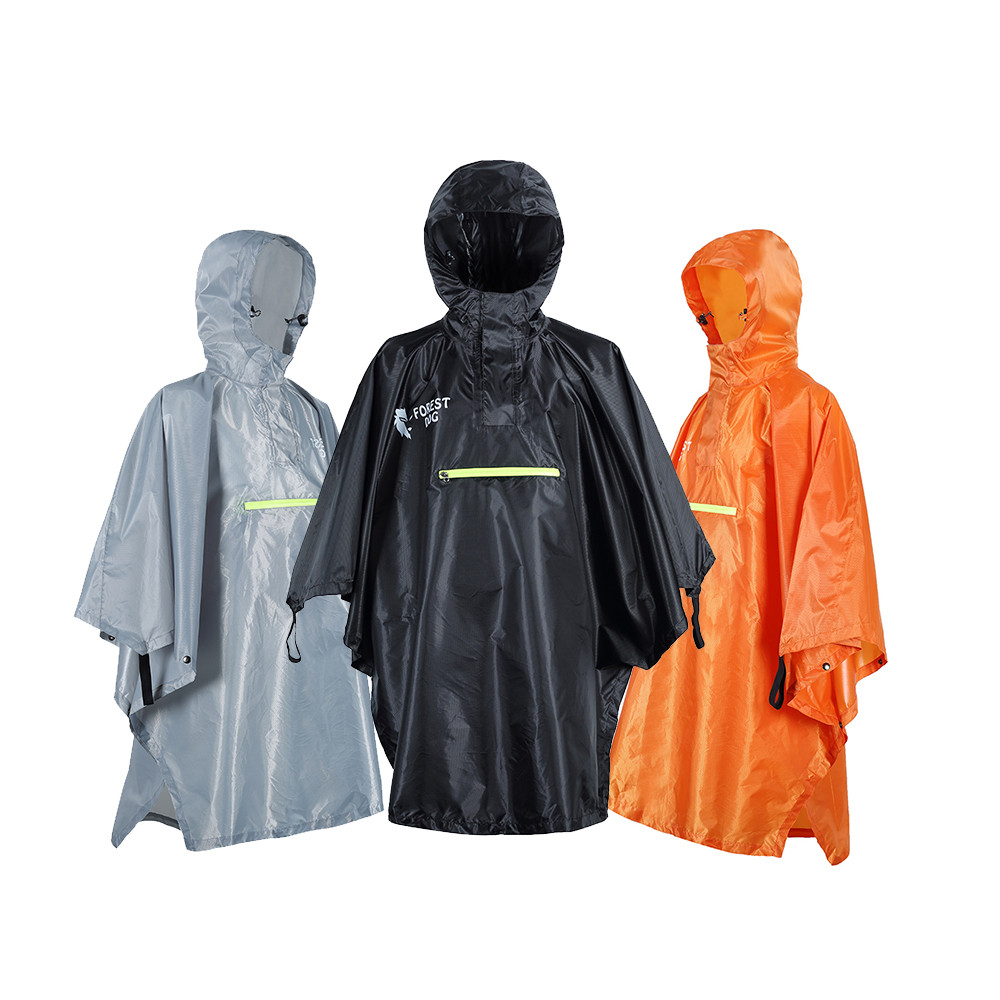 Raincoat Backpack Rain Cover Waterproof Tent Hood Hiking Cycling Rain Cover Poncho Rain Coat Outdoor Camping Tent Mat #K24