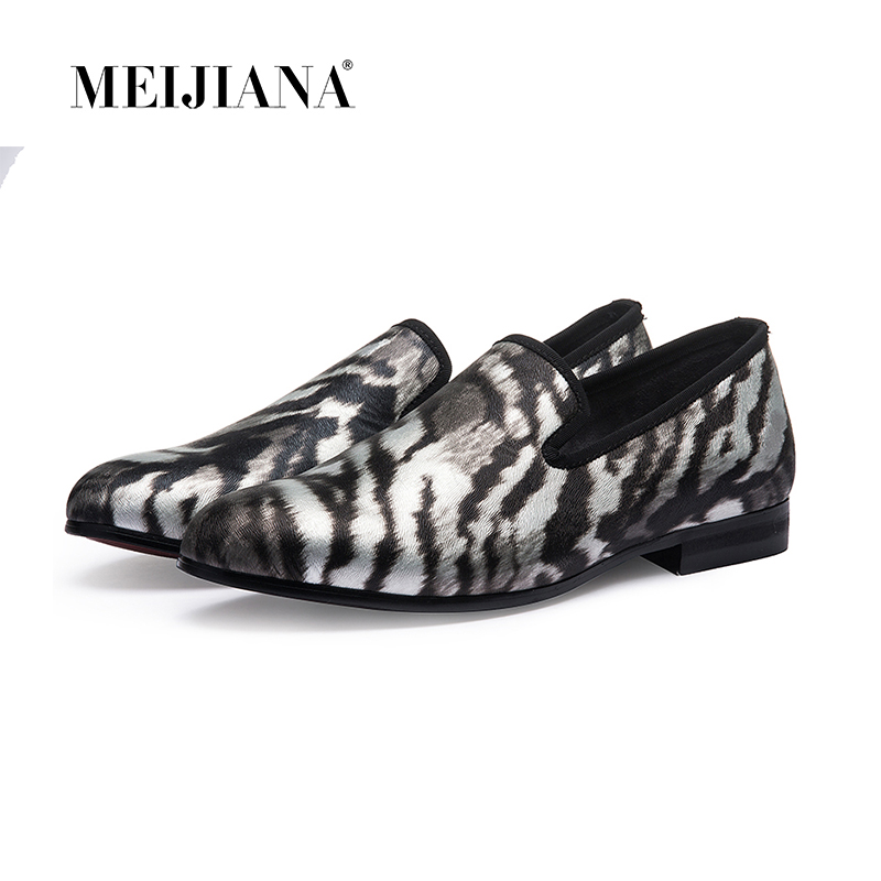 Man Shoes Brand Leather Lofers Man Shoes Casual Shoes Handmade Tiger Skin Sen s Flats Luxury