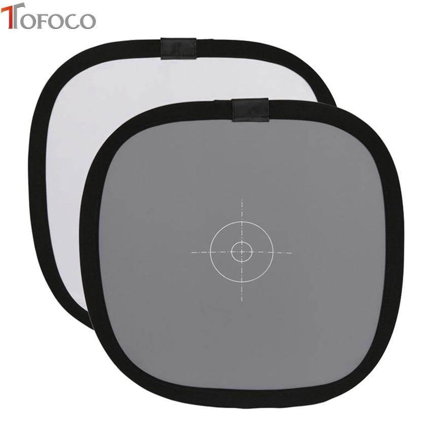 TOFOCO 12 Inch 30cm 18% Reflector Card pliabil gri Cartuș de - Camera și fotografia