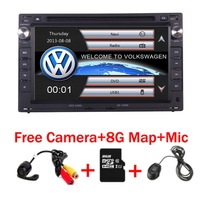 7Touch Screen Car DVD Player for VW Golf4 T4 Passat B5 Sharan with 3G GPS Bluetooth Radio Canbus SD USB Free Camera+8GB Map