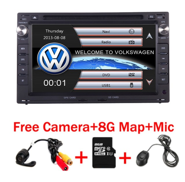 """7""""Touch Screen Car DVD Player for VW Golf 4 T4 Passat B5 with 3G GPS Bluetooth Radio Canbus SD USB Free Camera+8GB Map"""