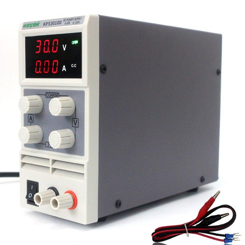 Wanptek KPS3010D 0-30V 0-10A AC115V-230V display Lab switching DC Power Supply,0.01A Adjustable Power supply 1200w wanptek kps3040d high precision adjustable display dc power supply 0 30v 0 40a high power switching power supply