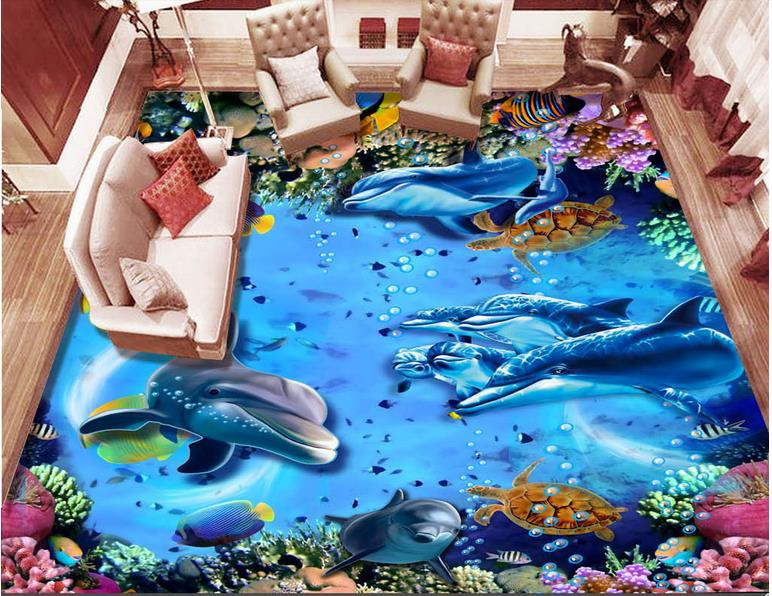 pvc self adhesive wallpaper custom vinyl floor tile wallpaper Underwater world tropical fish 3d flooring waterproof wallpaper 3d floor abstract spiral staircase wallpaper custom laminate flooring waterproof self adhesive waterproof 3d floor vinyl