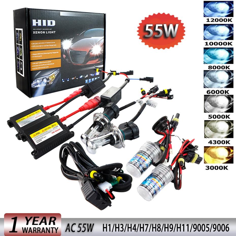Autovizion AC HID Kit 880 9005 9006 H1 H3 H4 H10 H11 H13 H16 5202 6000K 5K Xenon