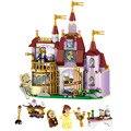 Castillo Encantado Juguetes de la BELLA Y LA BESTIA Belle Compatible Legoes 41067 Niñas Regalo de Navidad