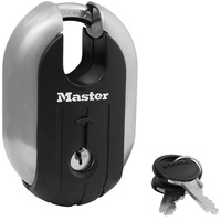 Master Lock Keyed Padlock Titanium Series Stainless Steel Lock Anti theft 187XD Used for garages sheds, trailers, moving trucks