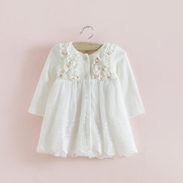 2017 hot sale idéia indant dress roupa do bebê do outono do algodão roupa dos miúdos meninas recém-nascidas do bebê girls dress vestido infantil