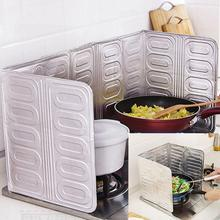 Kitchen Oil Aluminium Foil Plate Gas Stove Splatter Screens Tools Cooking Insulate Splash Proof Baffle
