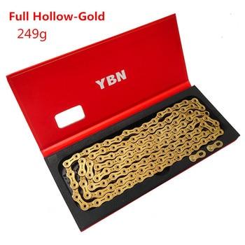 YBN Mountain Bike 11speed Chain  Road Folding Bicycle 22 33 Speed Gold Hollow Semi-hollow Chain