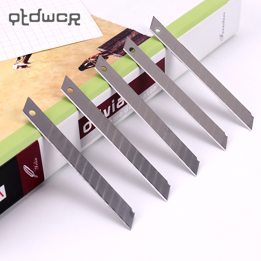 10PCS Office Supplies Utility Knife Refill Blades Alloy Steel Replaceable Blades Cutting Blade For Utility Knife