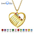 Personalized Engrave Love Pendants Necklaces Heart 925 Sterling Silver Necklaces & Pendants Mother's Day Gift(JewelOra NE101243)