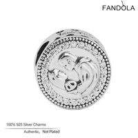 FANDOLA DIY Perlen Fit Charms Armbänder 925 Sterling Silber Liebe Erste Kuss Perlen für Schmuck Machen Berloques Para Pulsera