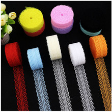 High quality 10 yards Lace Ribbon Tape Width 2.6CM Trim Fabric DIY Embroidered Net Cord For Sewing Decor african lace fabric 10 yards beautiful lace ribbon tape 45mm lace trim fabric diy embroidered net lace trim cord for sewing decoration 23 colors