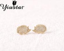 Yiustar 2017 New Fashion Hot Brushed Cute Animal stud earring Hedgehog Stud Earrings for Women ED012