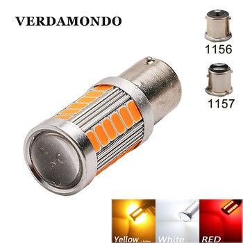 1 шт. 1156 1157 BAY15D BA15S P21W 5730 СВЕТОДИОДНЫЙ Автомобильный задний фонарь, тормозной светильник, автомобильная лампа заднего хода, дневной ходовой светильник, красный, белый, желтый, 12 В
