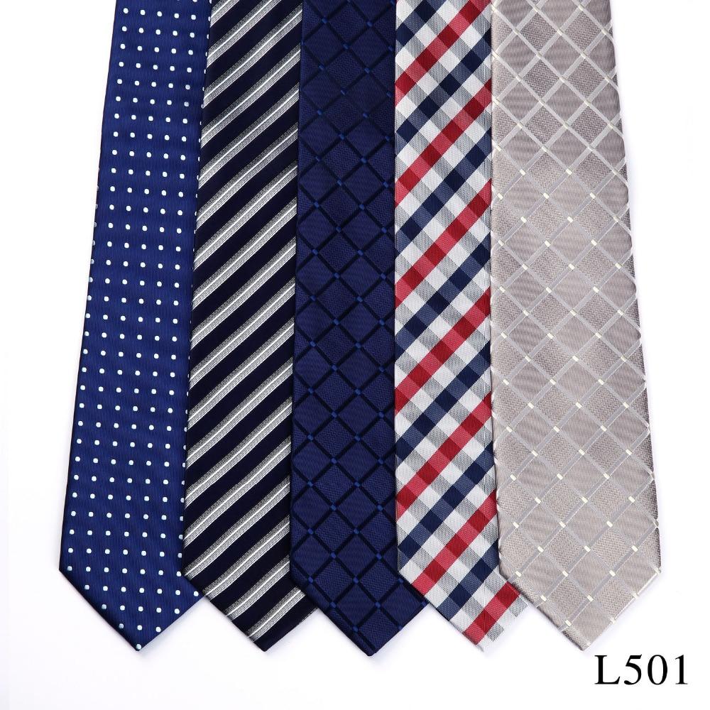 HISDERN Neck Tie Lot 5 PCS Wholesale Classic 3.4
