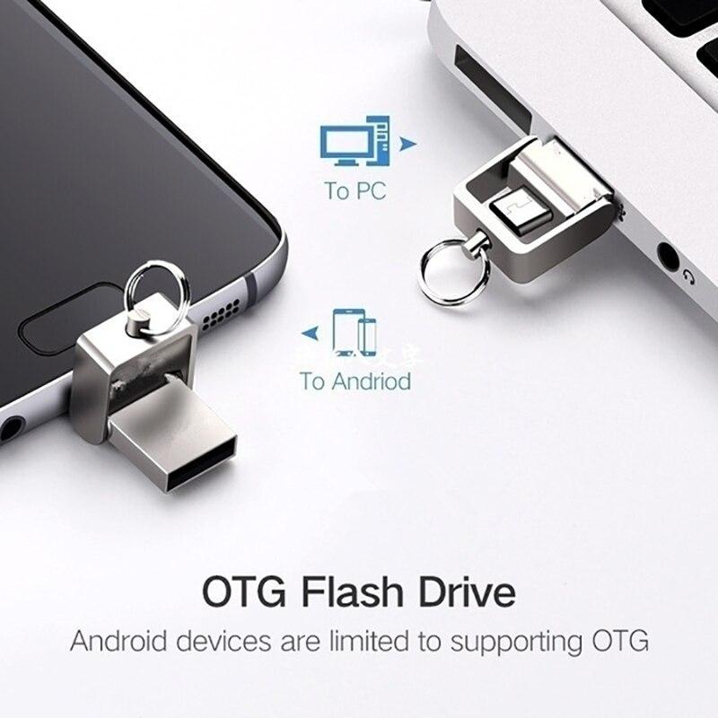 Mini Memory Stick Usb 3.0 Metal Waterproof Usb Flash Drive 128gb Pendrive 64GB 16GB 8GB Pen Drive 32GB For Micro Phone Computer