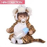 40 cm Tiger Cosplay Silicone Reborn Pop kids Playmate Gift Voor meisjes 16 Inch Baby Alive Zachte Pluche Speelgoed Voor Kinderen N205