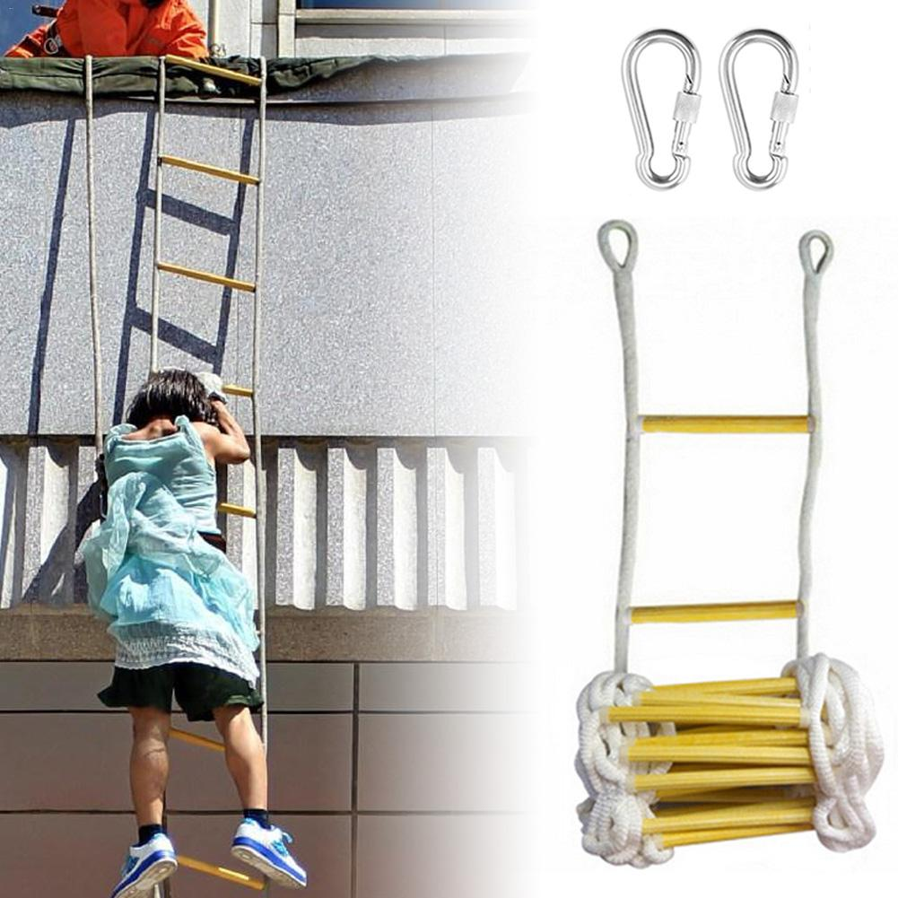 3M 5M Rescue Rope Ladder Escape Ladder Emergency Work Safety Response Fire Rescue Rock Climbing Escape Tree Outdoor Protection