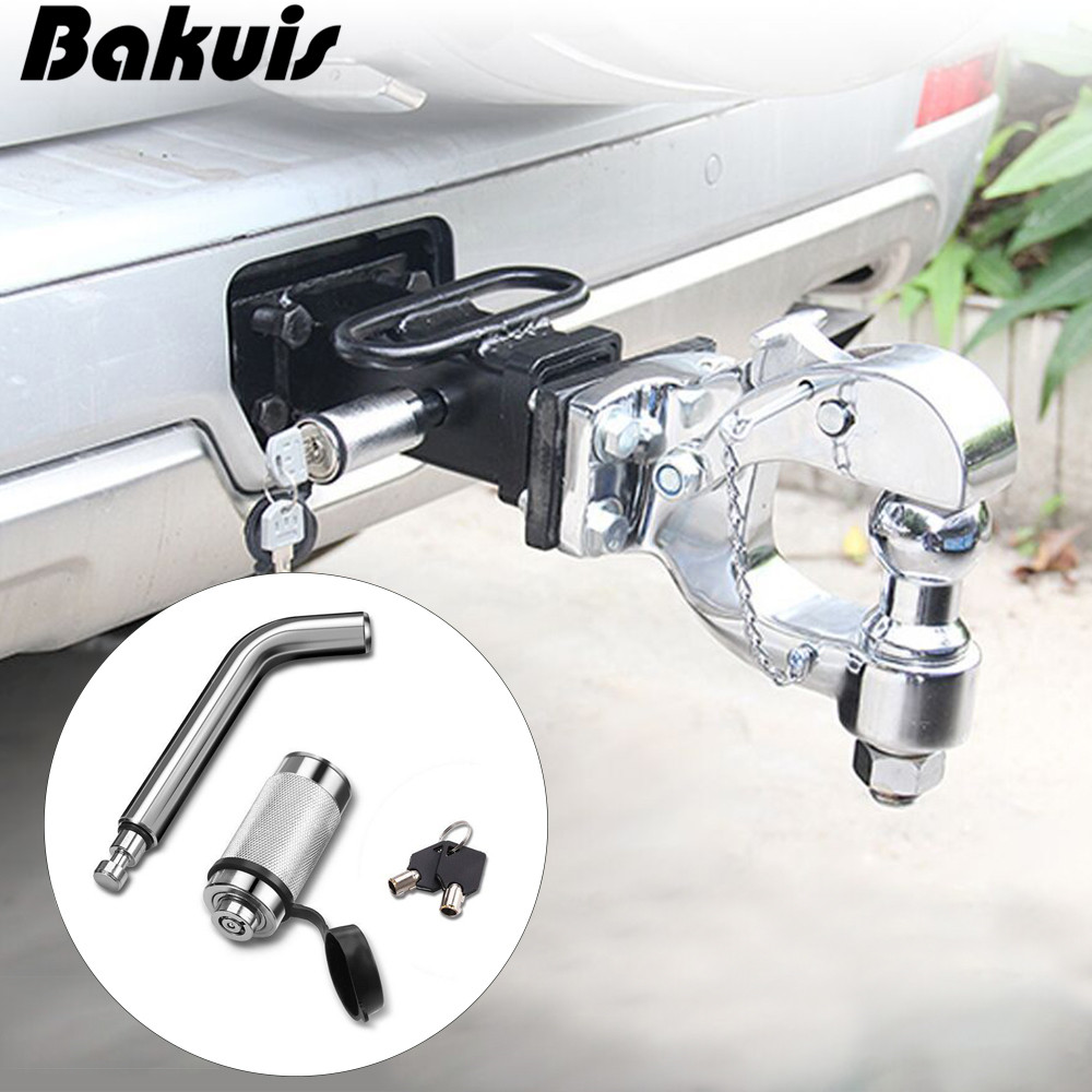 NEW Trailer Hook 5/8'' Car Back Trailer Locking Hitch Pin With Double Keys Rubber Cap Waterproof Lock Kit For Trailer