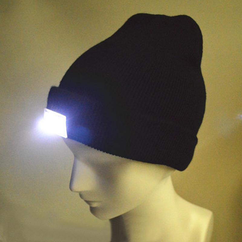LED Light Hat Portable Head Lighting Lamp Gorro Beanies Night Fishing Hunting Camping Running Lighting Caps Knitting Woolen Hats