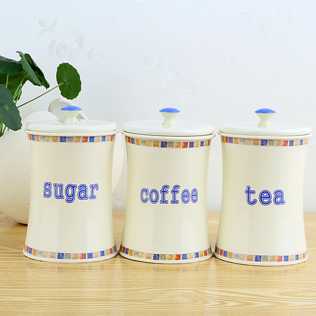 Charmant Metal Moisture Sealed Jars Milk Powder Grains Peas Canister Storage Jars  Home Kitchen Tea Coffee Sugar