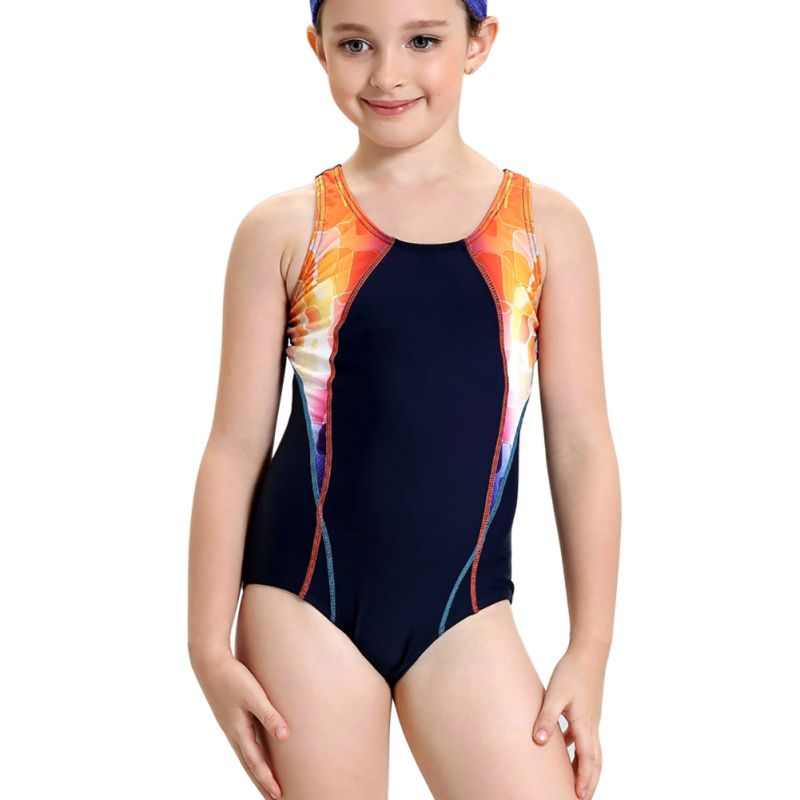 Summer Girls Swimming Sports Quick Dry Swimsuit One piece ...