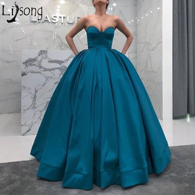 Robe de bal Turquoise robes de bal hors épaule chérie plissée Satin élégante robe de soirée à lacets dos robes de soirée formelles